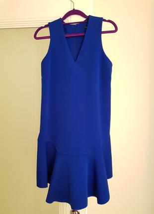 Синее платье mango xs