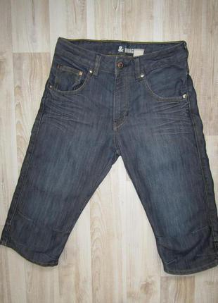Джинсовые бриджи шорты h&m1 фото