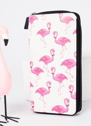 Женский кошелек с фламинго