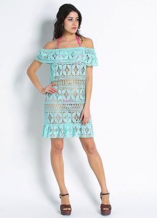 Шикарное пляжное платье! плетёное кружево! италия! распродажа!