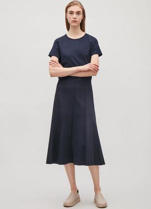 Синяя юбка годе cos