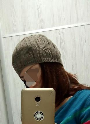 Ажурний берет шапка