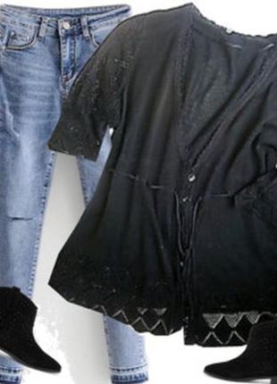 Ажурная кофточка размер 50-54 бренд   xlnt