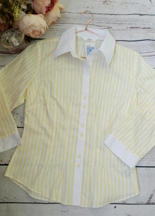 Полосатая  рубашка marks & spencer