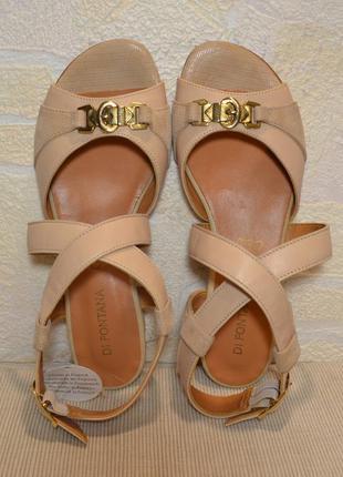 Di fontana франция, оригинал! натуральная кожа! легкие, суперуютные босоножки сандалии