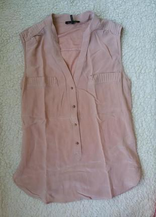 Шелковая блуза / топ massimo dutti / 100%шелк, 100%модал