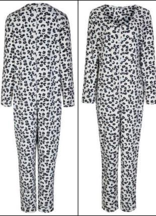 Теплое флисовое кигуруми слип пижама marks&spencer
