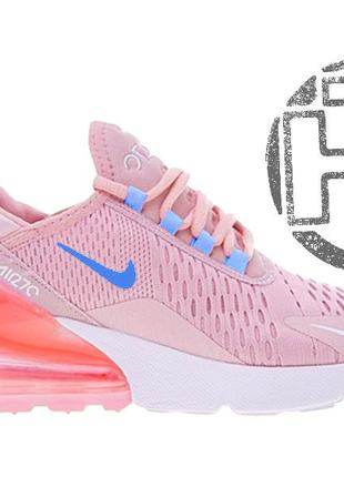 Женские кроссовки nike air max 270 flyknit pink white ah8050-6101 ... db5066915a013