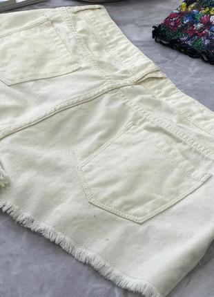 Джинсовый шорты молочного цвета denimco  pn180512 denim co3 фото