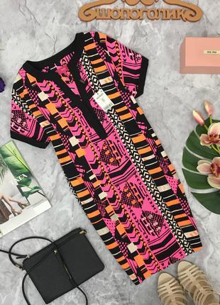 Платье - оверсайз с ярким и хаотичным принтом next  dr1805118