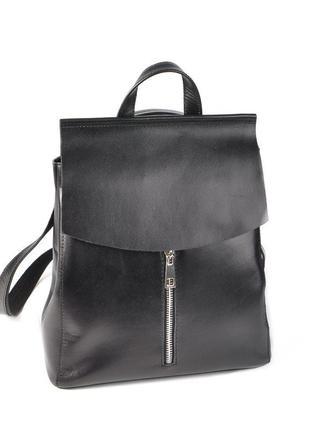 Кожаная сумка-рюкзак трансформер через плечо