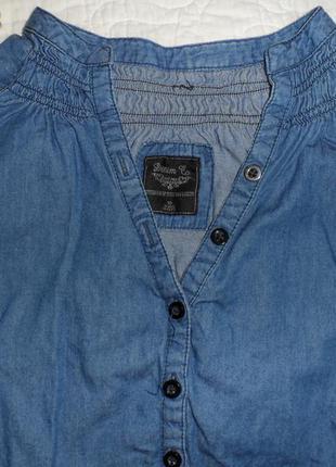 Джинсова рубашка на гудзиках denim co