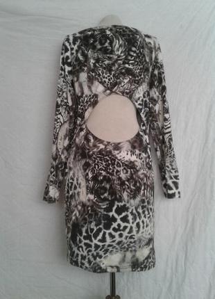 Трикотажное катоновое платье,