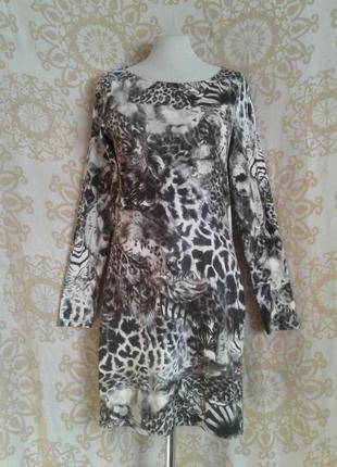 Трикотажное катоновое платье,3
