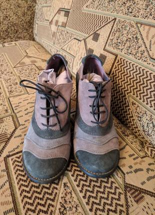 Туфли ботильоны натуральный замш 36