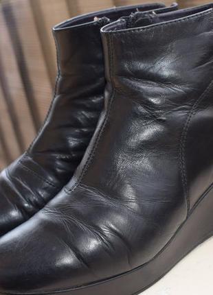 Кожаные ботинки вагабонд vagabond р.41 26,5 см танкетка