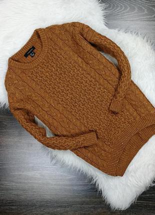 Коричневый свитер с косами 1587 atmosphere размер uk8/36 (s)