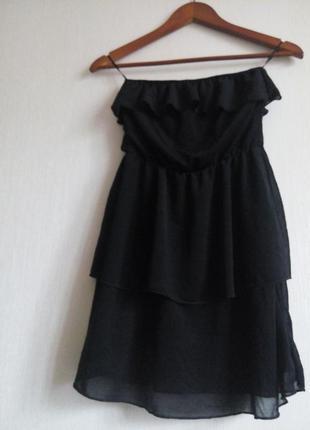 Короткое платье топс с воланами h&m