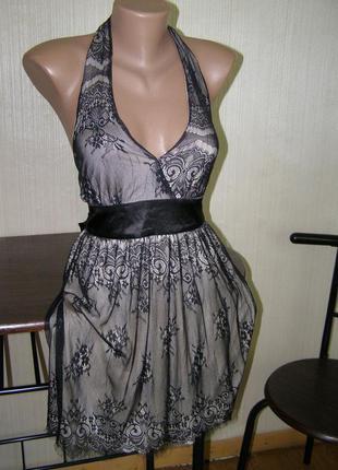 Кружевное платье-мини от new look