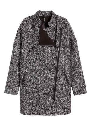 Модное шерстяное пальто бойфренд oversize
