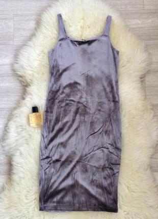 Велюровое платье майка