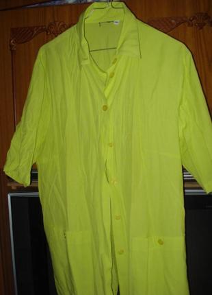Рубашка салатовая вискоза
