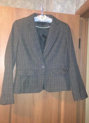 Приталенный пиджак блейзер жакет e-vie collection р.m 16 xxl