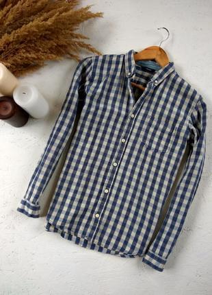 Хлопкова рубашка в клітинку, george