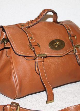 Оригинальная кожаная сумка mulberry alexa/серийный номер