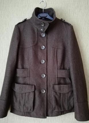 Шерстяное пальто* полупальто* h&m