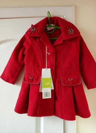 Пальто на девочку 2 года англия