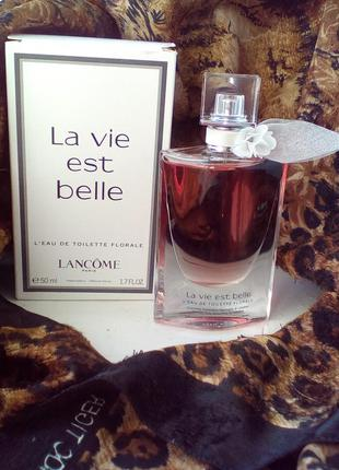 Туалетная вода lancome la vie est belle florale, 50 ml, франция, оригинал, тестер