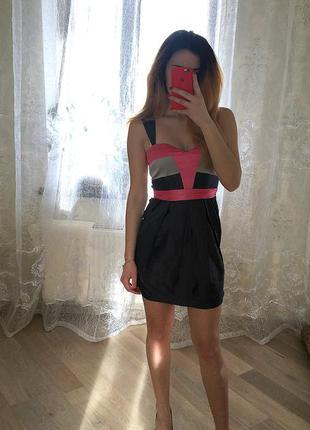 Шикарное вечернее атласное платье, вишукана сукня, плаття.