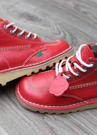 Ботинки kickers red оригинал кожа 38 размер