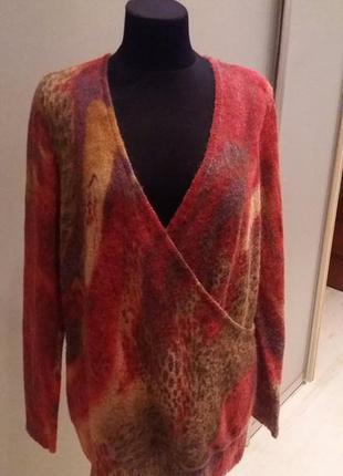 Цена дня!новая кофта свитер шерсть+мохер bonita pаз.18-16-хxl (пог 58+)