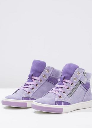 Новые. замша. ботинки/высокие кеды/кроссовки richter, австрия. нежно фиолетовые1