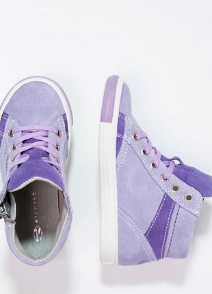 Новые. замша. ботинки/высокие кеды/кроссовки richter, австрия. нежно фиолетовые2