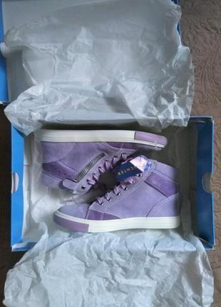 Новые. замша. ботинки/высокие кеды/кроссовки richter, австрия. нежно фиолетовые3