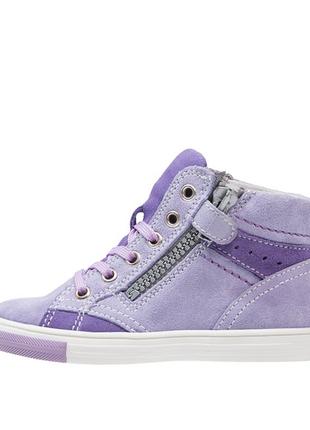 Новые. замша. ботинки/высокие кеды/кроссовки richter, австрия. нежно фиолетовые4