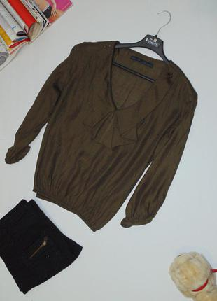 Брендовая блузочка , цвета хаки от zara