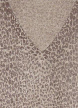 Кашемировый джемпер в леопардовый принт , 100% кашемир