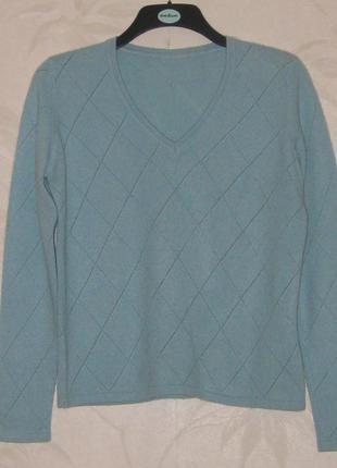 Кашемировый джемпер нежно-голубого цвета от marks & spenser