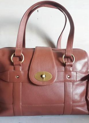 Большая сумка tommy&kate,100%кожа, британия