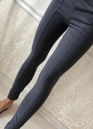 Качественные/штаны/лосины/ серые/ размер s/m