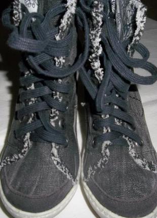 Текстильные кеды на каблуке north star