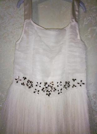 Шикарное нарядное платье next 10 лет