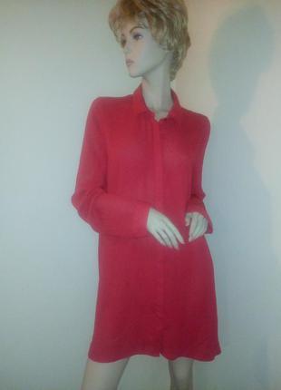 Ярко красная удлиненная блуза. f&f. xxl