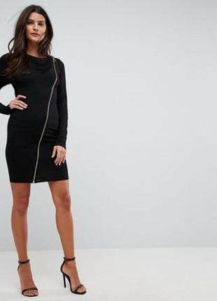 Новое черное платье с молнией next