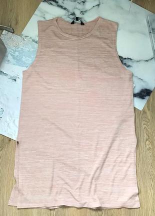 Удлиненная майка/туника /платье  с разрезами по бокам
