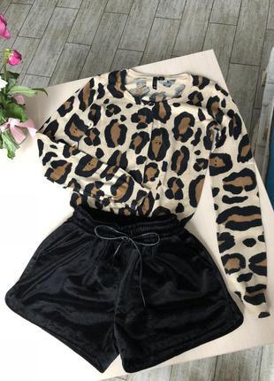Леопардовый джемпер h&m